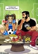 Израелски художник създава комикси за щастливия семеен живот със съпругата си