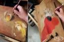 20 зашеметяващи фотореалистични рисунки върху дърво