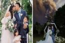 Влюбена двойка сключи брак на фона на изригващия вулкан Таал