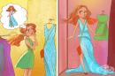 11 илюстрации показват какво представлява животът на ниските момичета