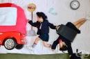 Майка от Япония прави вълшебна фотосесия на своите близнаци
