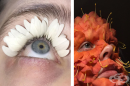 Художничка създава сюрреалистичен грим, използвайки плодове, зеленчуци и растения