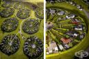 10 снимки представят сюрреалистичните кръгови градини в Дания