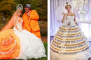 25 от най-странните сватбени рокли по света