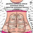 Упражненията за горна и долна част на правия коремен мускул (плочки)
