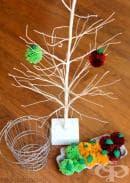 Покана за образователна игра: направете си ябълково дръвче с помпони