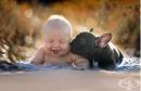 Бебе и френски булдог, родени на една дата, имат най-очарователната връзка по между си (галерия)