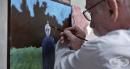Дейвид Хюгинс рисува извънземните, които го отвличат
