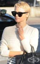 """Памела Андерсън с драстична промяна във външността си - отряза косата си късо в стил """"фея"""""""