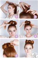 """Как да вдигнете косата си в кок """"панделка""""?"""