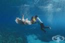 Впечатляващи сватбени снимки... под вода!