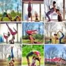 Майка и дъщеря в очарователна йога серия от фотографии