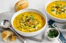 Морковена крем супа с топли багети