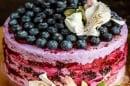 Млечна торта с горски боровинки