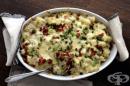Картофи на фурна със сметана и бекон