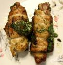 Пилешки рулца със спанак, сирена, чесън и орехи