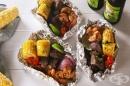 Сърф ен търф (морски дарове и червено месо) във фолио