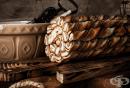 Спираловидно шоколадово руло с мармалад