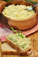 Яйчена салата с целина, къри и горчица
