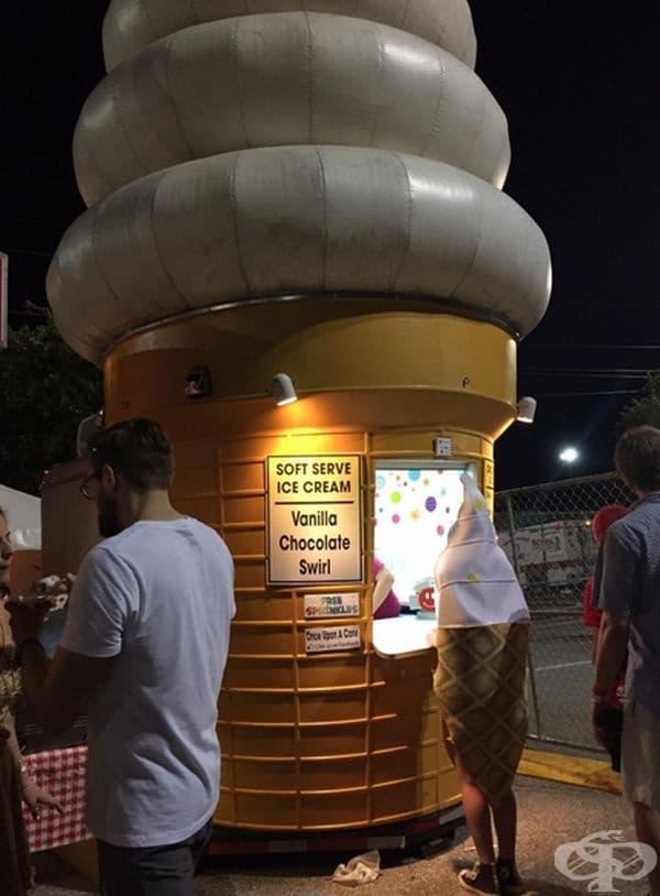 Рог със сладолед купува рог със сладолед в рог със сладолед.