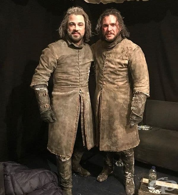 """Кит Харингтън и Дан Юстън в """"Игра на тронове"""""""