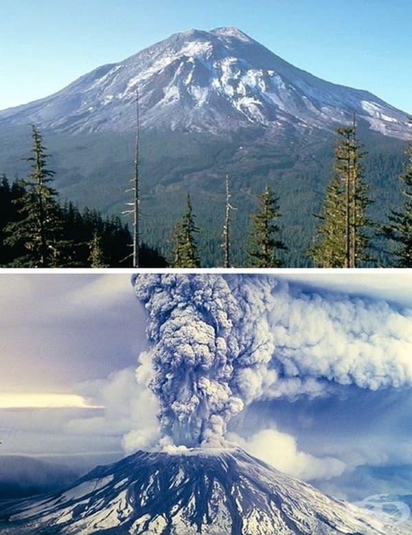 Вулканът Сейнт Хелънс се намира във Вашингтон, САЩ. Изригва през 1980 г. – това е една от най-големите природни катастрофи в историята на Северна Америка. Пепел на десетки километри, свлачища от лава и камъни преобразяват местността до неузнаваемост.