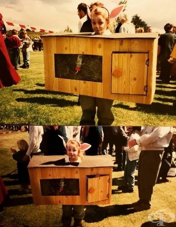 Празничен костюм - клетка за зайци.