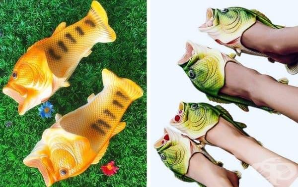 Джапанки-риби. ПО думите на производителя тези джапанки са подходящи както за морето, така и за басейн, фестивал или обикновена разходка.