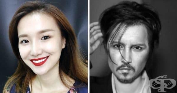 Гримьорка от Китай показа как в 10 стъпки може да се превърне в копие на Джони Деп