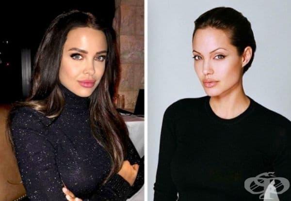 Мара Тийгън и Анджелина Джоли. Младият американски модел Мара Тийгън поразително наподобява на актрисата Анджелина Джоли, призната за една от най-красивите жени в света. Тийген бързо печели популярност в модния свят, може би благодарение на тази прилика.