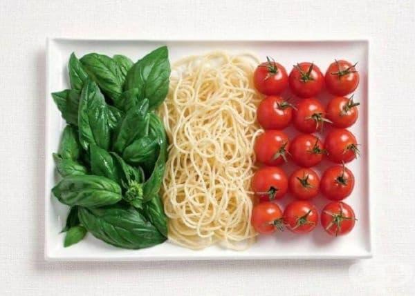 Италия: босилек, макарони, домати