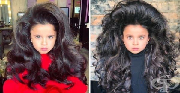 Миа Афлало и зашеметяващата й коса.