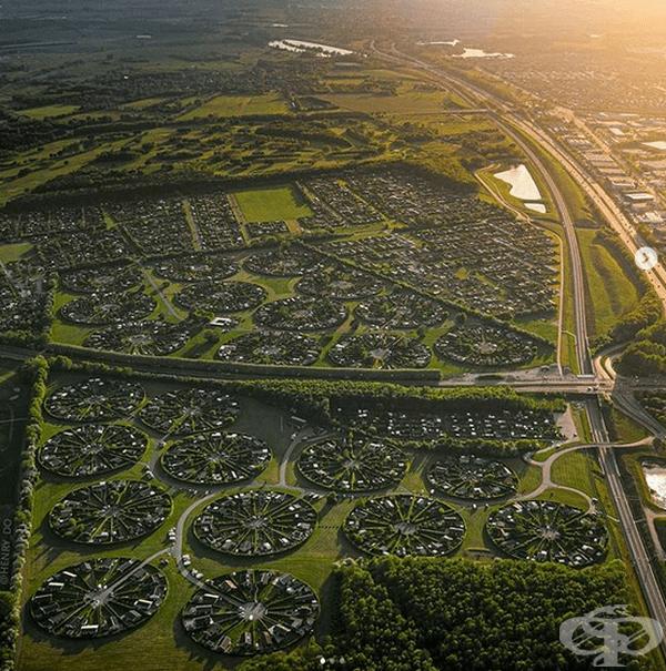 """Идеята за """"градински град"""" е одобрена през 1964 г., а архитект на проекта е Ерик Мигинд."""
