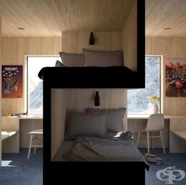 Спалня Vardehaugen за близнаци.