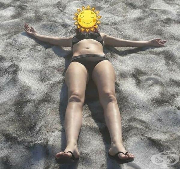 """""""Сестра ми ми прати снимка как в Норилск се забавляват на дългоочакваното лято през юни. Това не е пясък, а сняг""""."""