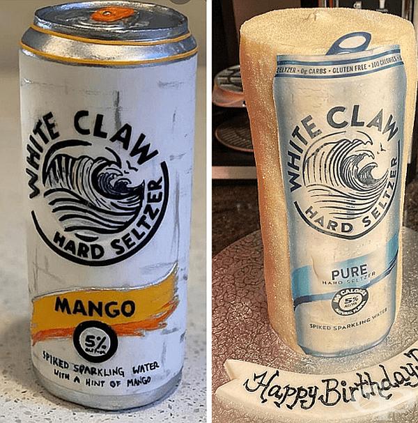 """""""Моята приятелка похарчи 100 долара, за да ми донесе торта с """"White Claw"""" за рождения ми ден. Тя не беше доволна от резултата."""""""