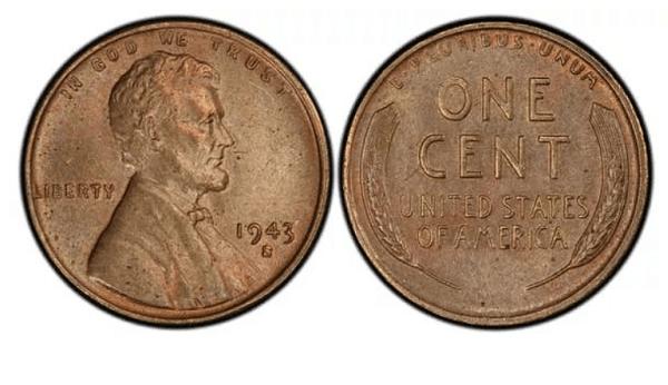 Меден цент с Линкълн и пшеница (1943-S). Цена: 185 000 $, но е продадена за 1 000 000 $ през 2012г. През 1943 г. са сечени монети от стомана с цинково покритие. По грешка малка серия са били направени от мед и пуснати в употреба в Сан Франциско.