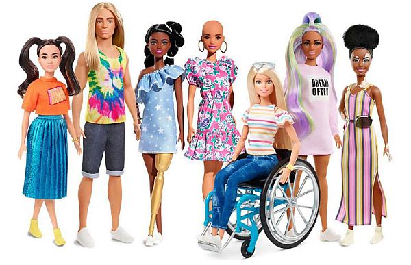 """Наскоро компанията Mattel разшири своята линия """"Fashionistas"""", добавяйки кукли Барби с различни телосложения, цвят на кожата и прически."""