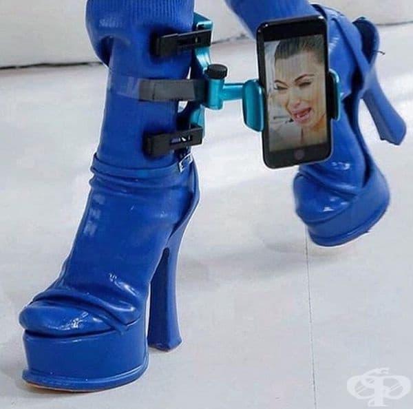 Интересно, този модел обувки предизвикват сълзи, смях или тъга у Ким Кардашиян?