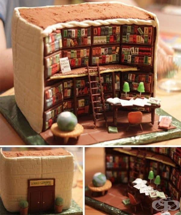 """Торта """"Библиотека""""."""