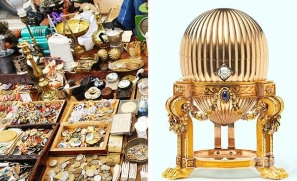 Американец си купува метално яйце с перли и часовник в него за 14 000 долара. Иска да го продаде, но без успех. По-късно разбира, че това е яйце на Фаберже от 1887 г.– продава го за 33 млн. долара.