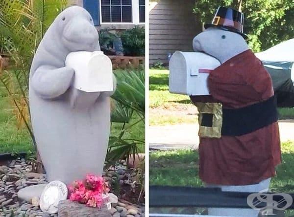 Всичко започна с пощенска кутия от ламантини (морски крави).