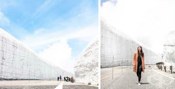 Снежен коридор в Япония или когато природните явления се превърнат в забележителност