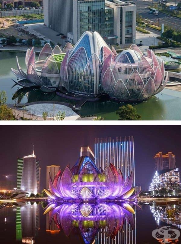 """Сградата """"Лотус"""" в Чанджоу, Китай."""