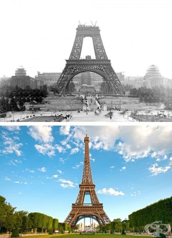 Айфеловата кула, Париж, Франция. Строителство: 1887-1889 г.