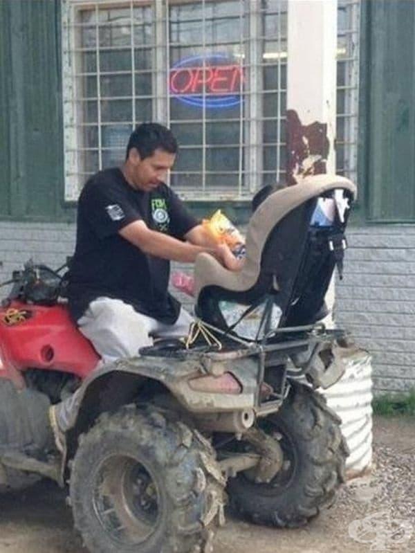 Новата количка на детето.