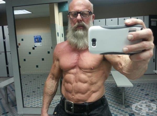 Този дядо все още се грижи за фигурата си. Може да ви научи как да се защитавате в училище.