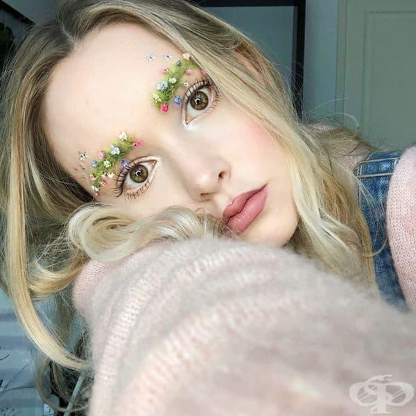 Нов тренд завладява дамите – вежди с цветя
