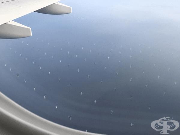 Полет над вятърна електроцентрала