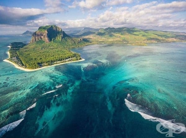 Подводният водопад, Мавриций
